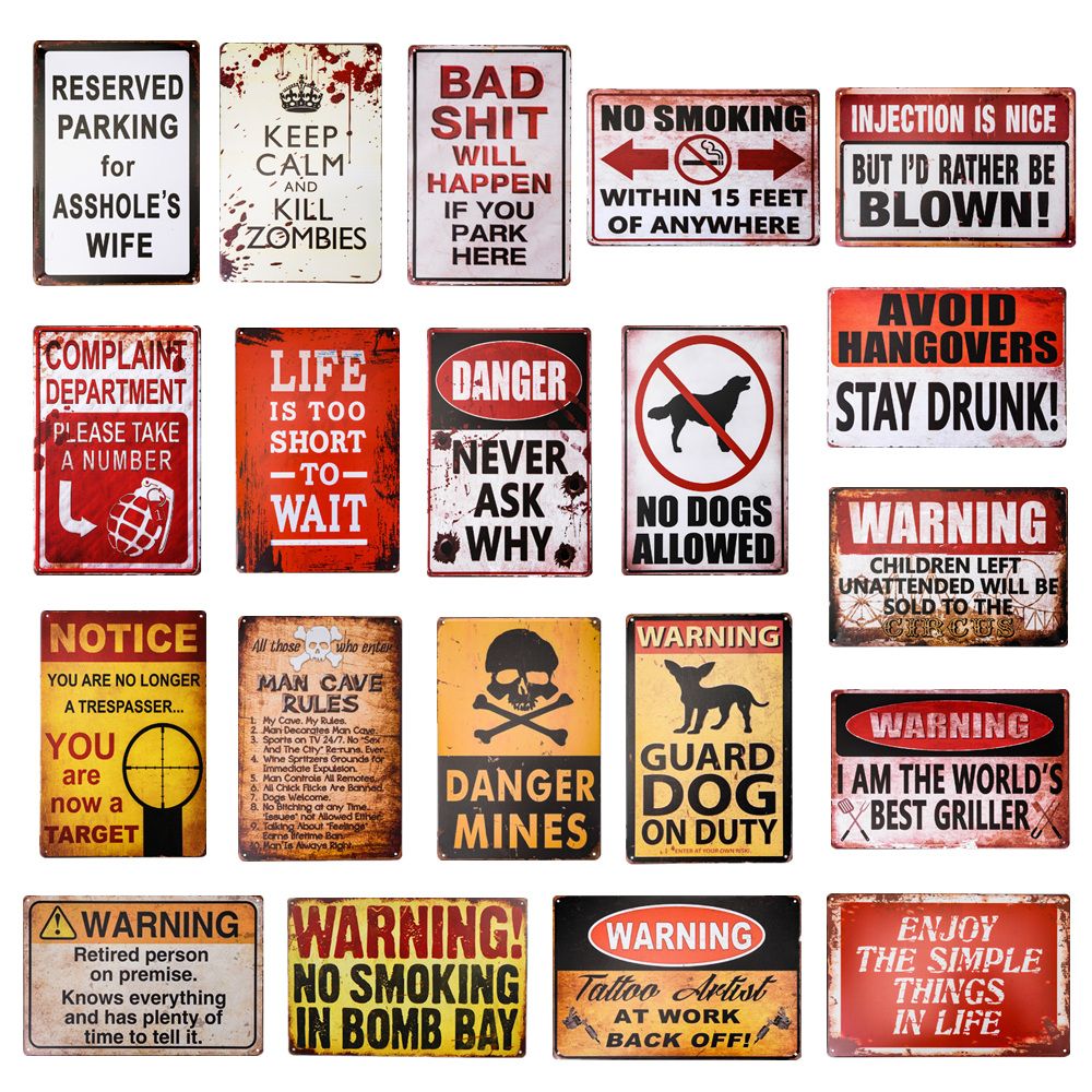 Notice Can/'t Fix Stupid Funny Humor Rustic Retro Wall Bar Decor Metal Tin Sign