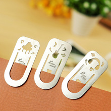 2 Pieces/lots Novelty Cute Paper Clips Metal Bookmark For Books Book Mark Gifts For Teachers Stationery Office Supplies China(China)
