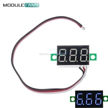 DC 0-30V 3 Wires 0.36 inch Blue LED Panel Voltage Meter 3-Digital Display Voltmeter Hot Sale Free Shipping(China)