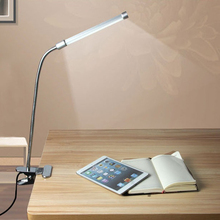 Flexible Adjustable USB LED Clipper Desk Table Lamp Light with Clip two level brightness Switch Dimmable Student Lamp