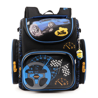 Delune Children School Bags for Boys Orthopedic Backpack Cartoon Cars planes Schoolbag Kids Satchel Mochila Infantil Grade 1-5