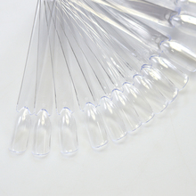 50 tips False Nail Tips Transparent/Natrual  Plastic Display Tool Practice Manicure Nail Art French Nail Color Plate SANC200