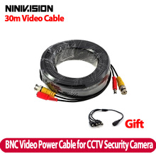 New 100FT 30M BNC Video Power Cable for CCTV DVR Camera,BNC 30M Power video Plug and Play Cable for CCTV camera