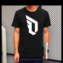 Free Shipping Printed T Shirt Tops Men Cotton Men Damian Lillard Logo Shirt Clothing Tee Tops