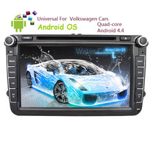 CD 1080P Autoradio System Player Car DVD Player Music GPS Stereo RDS Tablet OBD2 Android 4.4 Radio For VW Volkswagen