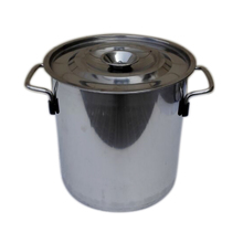 20L High Quality Stainless Steel Pots 25cm 1mm Thicken Soup Pot Panela Large Capacity Suitable For Gas Cooker Hotel Kitchenware