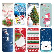 Happy New Year Merry Christmas Snowman Santa Claus Phone Case for iphone 7 6 6S plus 5s se 5 Transparent Soft Silicone TPU Cover