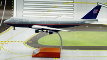 IF 1/200 United Airlines Boeing B747-100 aircraft model alloy N4716U Limited Collector Model