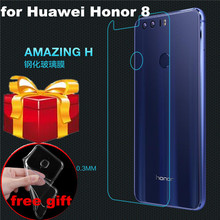 case gift) Honor 8 Tempered Glass back cover protective film NILLKIN Amazing H Anti-Explosion Tempered glass For Huawei Honor 8(China)
