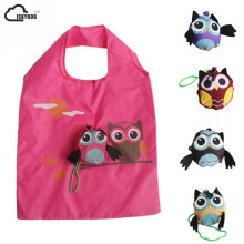 2017 Cute Animal Owl Shape Folding Shopping Bag Eco Friendly Ladies Gift Foldable Reusable Tote Bag Portable Travel Shoulder Bag(China)