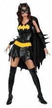 Halloween Batman Costume Adult Women Setin Dress with Cloak Mask for Scary Party Female Suit