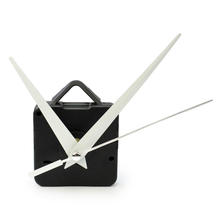 New Black Quartz Clock Movement Wall Clock Mechanism Repair Replacing DIY Making a Clock Tool Kit with White Hands