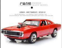 Hot sale Dodge Charger 1:32 alloy Wholesale car modesl four door open mustang GT children's toy car(China)