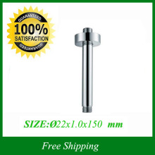 Round Top Ceiling  Shower Wall Arm  With Flange For Shower Head Extension 15cm length