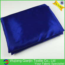 Worth buying fashion design best shiny washable blue satin fabric by the yard