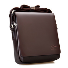 Top Brand 100% Genuine Leather Bag Men iPad Tabelt Cowskin Crossbody Bag Men's Business Handbags Bags for gift High Quality(China)