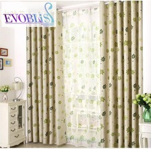 The  flower garden styyle curtains for living room floral print curtains for bed room rideaux pour le salon blackout curtain
