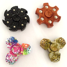 Creative Wooden Finger Edc Hand Fidget Spinner Tri-spinner Spinning Top Beyblade Toys For Sale Gyroscope