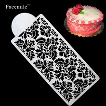 Flowers design for wedding cake decoration Mould Frostings Spray Cookie Fondont Cake making Templates Stencil Mold Tool