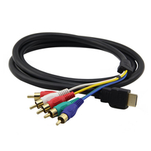 5FT / 1.5M HDMI Male to 5 RCA RGB Audio Video AV Component Cable(China)