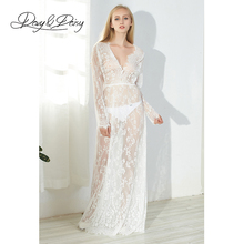 DavyDaisy Women Dress Plus Size Lace V Neck Long Sexy Club Floor Length Adjustable Summer Party Maxi Dress Female Dresses DS001(China)