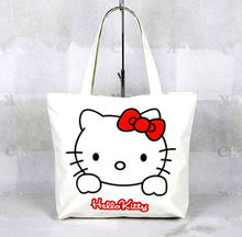 New Hellokitty Canvas Bag Shopping / Tote Bag Purse CC1288(China)