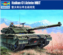 Free Shipping   TRUMPETER 00332  1/35 Italian c1 Ariete MBT  Assembly Model kits Modle building scale