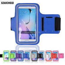 SZAICHGSI wholesale 500pcs sport Arm Band Phone Case Cover Run Sport Fitness Wrist Hand Belt Pouch Bag for samsung s6 s6 edge(China)