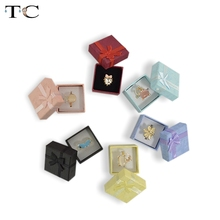 24pcs Assorted Jewelry Gifts Boxes for Jewelry Display 4*4*3cm Assorted Colors Ring Box Small Gift Boxes