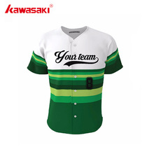 Genuine Kawasaki Sublimation Custom Men's Baseball Jersey For Practice Wear HipPOP Stripes Child Youth Softball Shirt Jerseys(China)