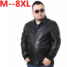 Plus size 10XL 9XL 8XL 6XL 5XL 4XL new leather jacket Sheepskin motorcycle man coat Leather jacket men biker jacket big size(China)