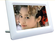 7Inch TFT LCD Digital Photo Movies Frame Wide Screen Desktop With LED Light Flash MP3 MP4 Player Alarm Clock