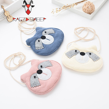 Raged Sheep Girls Small Coin Purse Change Wallet Kids Bag Coin Pouch Children Wallet Money Holder Kids Lovely Owl Bags(3 colors)