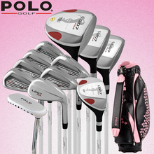 Brand POLO. Womens Female Ladies Golf Clubs Complete Golf Sets carbon graphite shaft Women Golf Clubs Full Set with Bag(China)