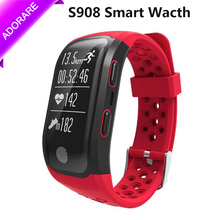 ADORARE Digital GPS Smart Watch Heart Rate S908 Fitness Tracker IP68 Waterproof Men Women Sports Smartwatch for Android iOS