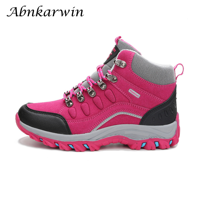 Hiking Shoes Trekking-Boots Mountain-Sneakers Hike Outdoor Climbing Waterproof Woman title=