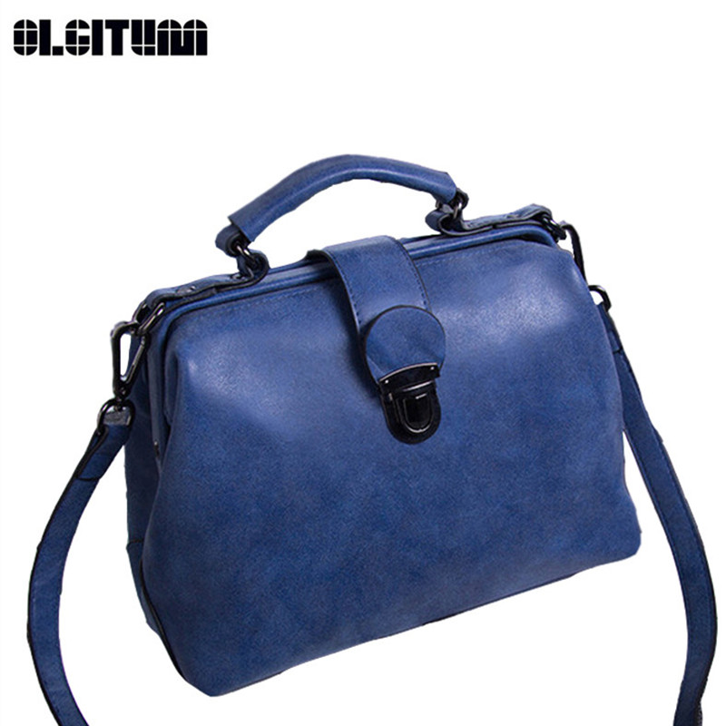 OLGITUM 2017 Hot Sale New Matte Bag Retro Portable Shoulder Diagonal Fashion Handbags HB191<br>