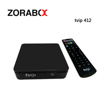 10pcs TVIP Box TVIP 412 V. 412 Mini IPTV Box Support M3U List Stalker EPG Youtube Airplay TVIP410 Plus(China)
