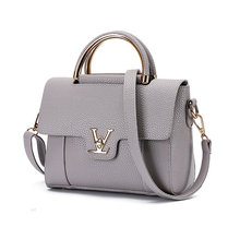 Women V Letters Handbags PU Leather Commuter Office Tote Bag Women's Pouch Bolsas Famous Ladys Flap Bag