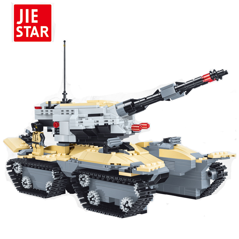 JIESTAR  Tank Blocks Model Military Bricks Brinquedos Educational Toys for Children 6+Ages 831pcs<br>