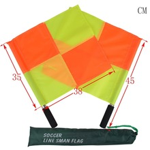1PC Soccer Football Referee Linesman Flag Professional Referee Equipment for Match Game High Quality Water Proof(China)