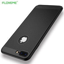 FLOVEME Luxury Heat Resistance Case For iPhone 6 6s Plus Samsung Galaxy S8 Cases Cell Accessories For iPhone 7 7 Plus Gold Capa