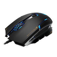 Comanro CM719 3500 DPI LED Laser Gaming Mouse USB Wired Gamer Mice Computer Pro for PC laptop with Omron Switch 6 Button