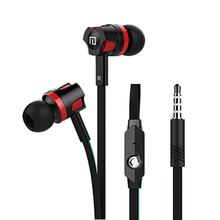 Hot sale JM26 stereo Earphones 3.5MM in-ear earbuds headsets Super Bass sound Headphone with flat cable with mic for IPhone HTC