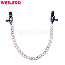 Buy duckbil clip chain nipple clamps slave bdsm sex toys couples fetish sex toys bdsm bondage restraints erotic toys adult games