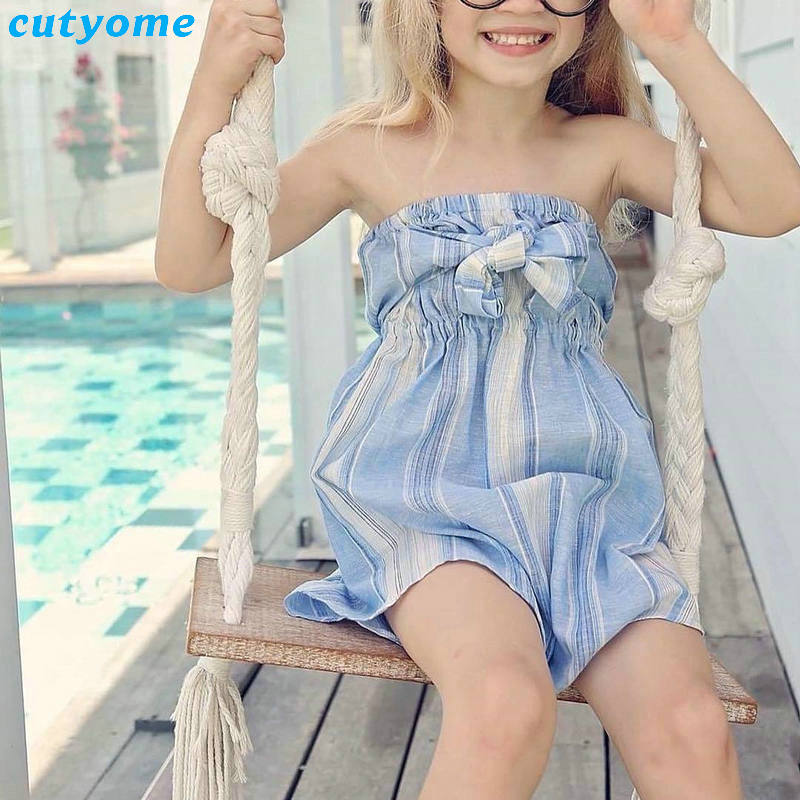 Mother Women And Daughter Girl Matching Clothes Striped Overalls Dress One-pieces Jumpsuits For Mommy And Me Family Outfits (5)