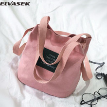 Elvasek women handbags mini women messenger bags canvas handbag single shoulder bags bucket clutch bolsas crossbody totes(China)