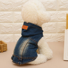 Denim Pet Dogs Clothes for Puppy Jeans Dog Coats Jacket Pet Cat Outfit Hoodies Spring Autumn Fashion Cowboy Ropa de Mascotas 20(China)