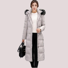2017 New Women Down Jack Thick Big Fur Collar Down Jacket Female Long Knee Winter Coat Winter Female Outerwear