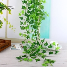 Green Artificial Silk Ivy Leaf Garland Plastic Plants Flower Vine Foliage Flowers Indoor Plants Leaves Home Decor